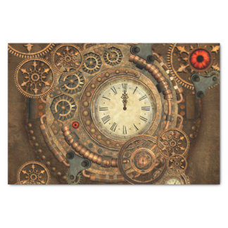 Steampunk, wonderful clockwork tissue paper