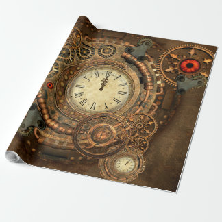 Steampunk, wonderful clockwork wrapping paper