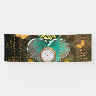 Steampunk, wonderful heart banner