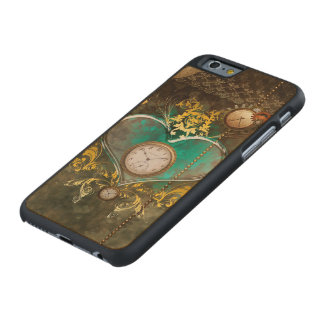 Steampunk, wonderful heart carved maple iPhone 6 case