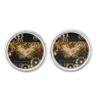 Steampunk, wonderful heart cuff links