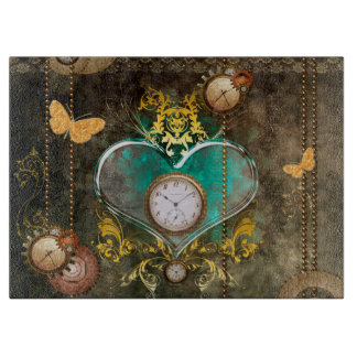 Steampunk, wonderful heart cutting board