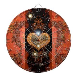 Steampunk, wonderful heart dart boards