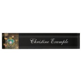Steampunk, wonderful heart nameplate