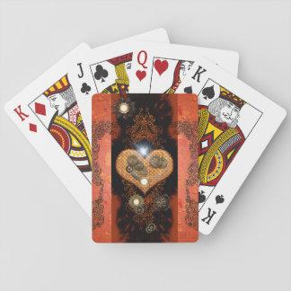 Steampunk, wonderful heart poker deck