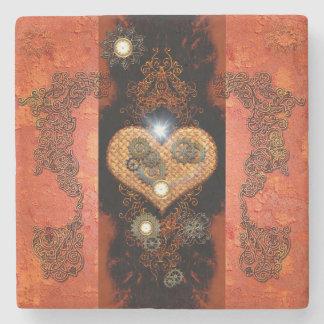 Steampunk, wonderful heart stone coaster
