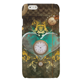 Steampunk, wonderful heart with clocks