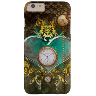 Steampunk, wonderful heart with clocks barely there iPhone 6 plus case