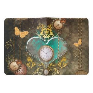 Steampunk, wonderful heart with clocks extra large moleskine notebook