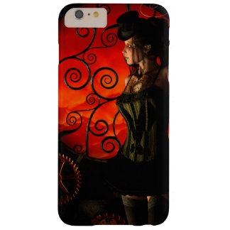 Steampunk, wonderful steampunk lady in the night barely there iPhone 6 plus case