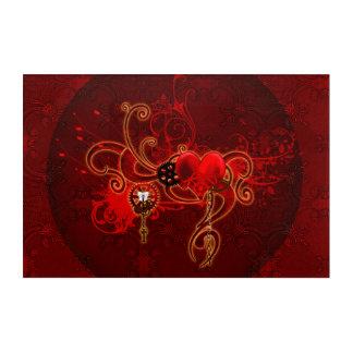 Steampunk, wunderful heart acrylic print