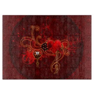 Steampunk, wunderful heart cutting board