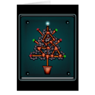 Steampunk Xmas, greeting card
