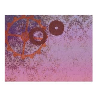 steampunkin abstract postcard