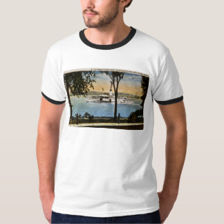 Steamship Going North on St. Clair River, T-Shirt