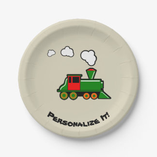 SteamTrain Paper Plate
