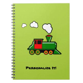 SteamTrain Spiral Notebook