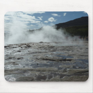 Steamy geysir geyser in Iceland Mouse Pad