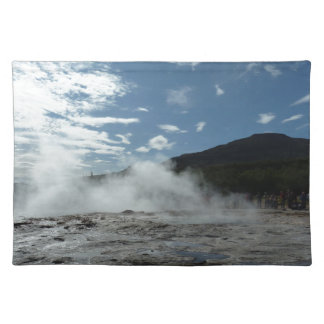 Steamy geysir geyser in Iceland Placemat