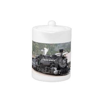 Steamy!: steam train engine, Colorado, USA