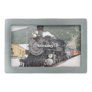 Steamy!: steam train engine, Colorado, USA 8 Belt Buckle