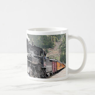 Steamy!: steam train engine, Colorado, USA 8 Coffee Mug
