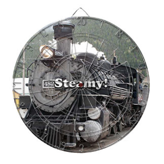Steamy!: steam train engine, Colorado, USA 8 Dartboard