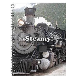 Steamy!: steam train engine, Colorado, USA 8 Notebooks