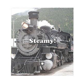 Steamy!: steam train engine, Colorado, USA 8 Notepad