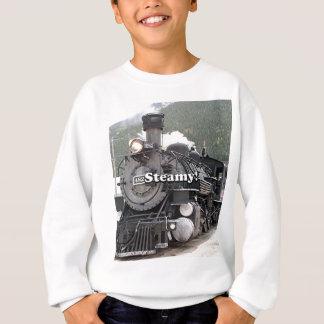 Steamy!: steam train engine, Colorado, USA 8 Sweatshirt
