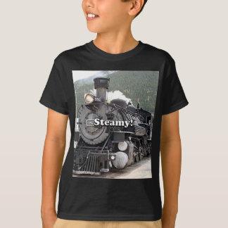 Steamy!: steam train engine, Colorado, USA 8 T-Shirt