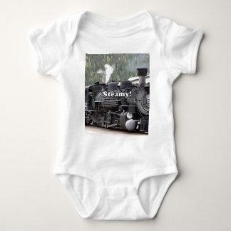 Steamy!: steam train engine, Colorado, USA Baby Bodysuit