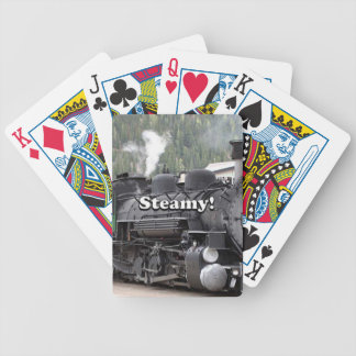 Steamy!: steam train engine, Colorado, USA Bicycle Playing Cards