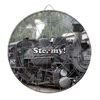 Steamy!: steam train engine, Colorado, USA Dartboard