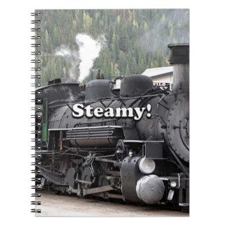 Steamy!: steam train engine, Colorado, USA Notebooks
