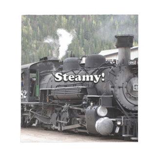 Steamy!: steam train engine, Colorado, USA Notepad
