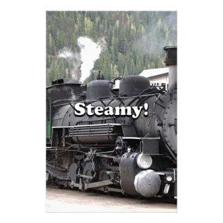 Steamy!: steam train engine, Colorado, USA Stationery