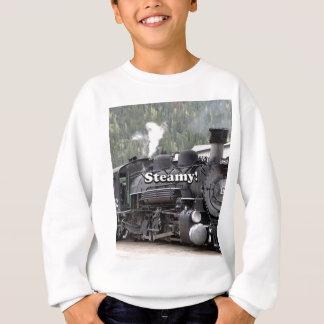 Steamy!: steam train engine, Colorado, USA Sweatshirt