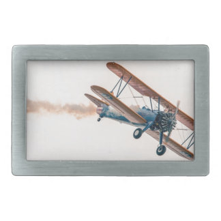 Stearman Pt-13d Double Decker Aircraft Fly Belt Buckle