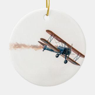 Stearman Pt-13d Double Decker Aircraft Fly Ceramic Ornament