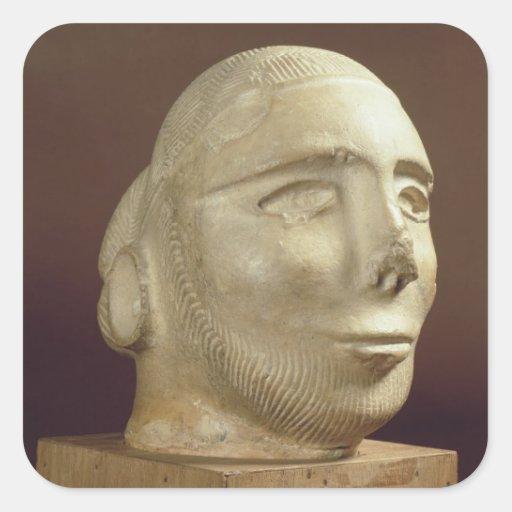 Steatite portrait head, Mohenjodaro, 2300-1750 BC Stickers
