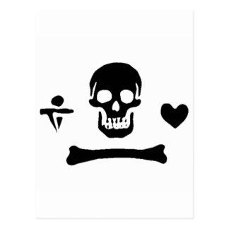 Stede Bonnet authentic pirate flag Postcard