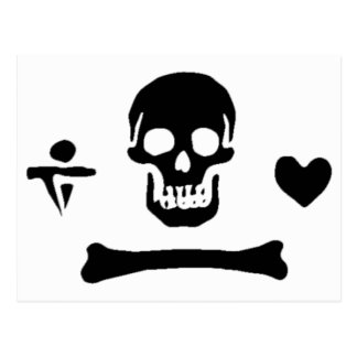 Stede Bonnet authentic pirate flag Postcard
