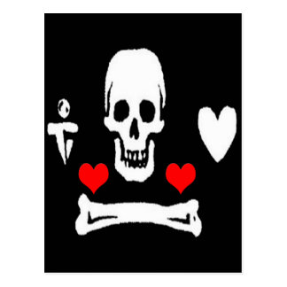 Stede Bonnet-Hearts Postcard