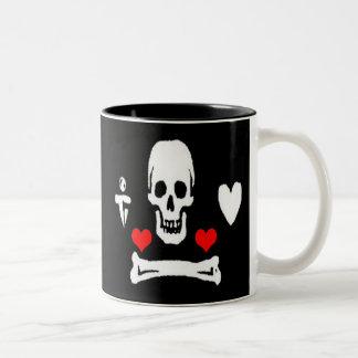 Stede Bonnet-Hearts Two-Tone Coffee Mug