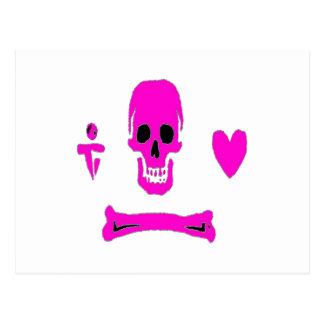 Stede Bonnet-Pink Postcard