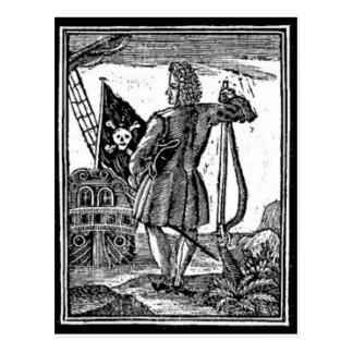 Stede Bonnet Pirate Portrait Postcard