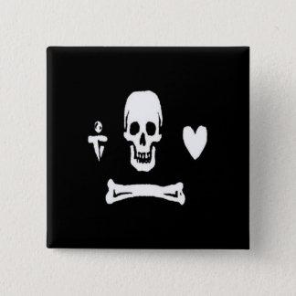 Stede Bonnet-White 2 Inch Square Button