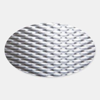 steel #16 oval sticker