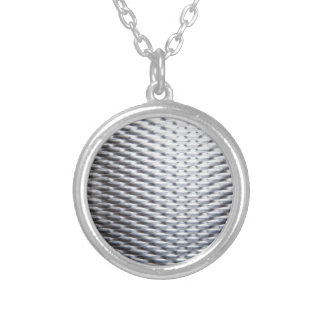 steel #16 silver plated necklace